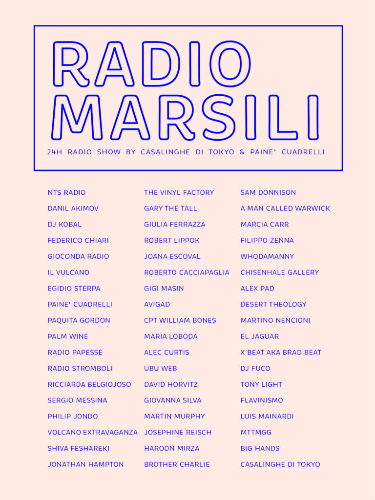 RADIO MARSILI_line up